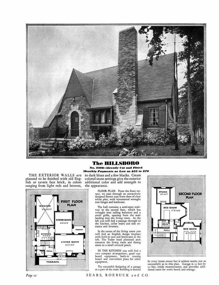 Sears Hillsboro 1930 1931 1932 3308 1933 3308 1934 3308 1935 3308 1936 1937 3308 Vintage House Plans Cute House Cottage Plan