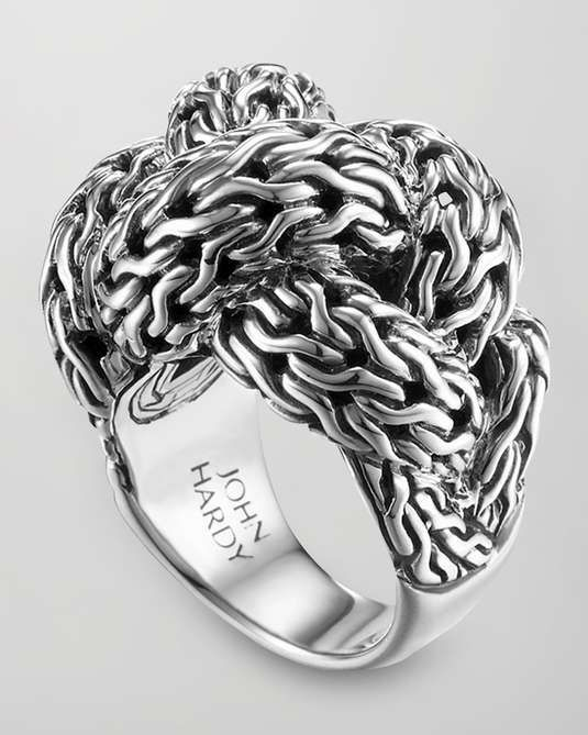 Love the John Hardy Classic Chain Silver Braided Ring, Large on Wantering.