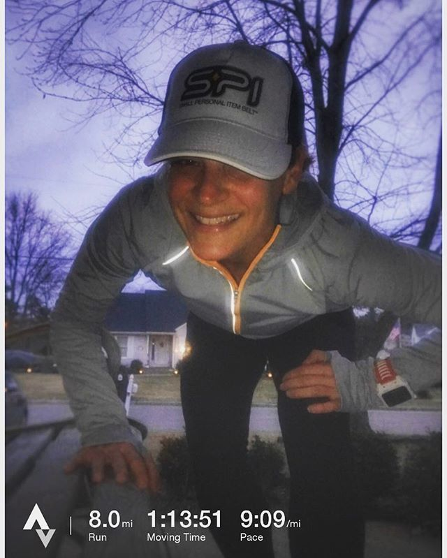 Look at that sky! A little #spooky  . @jdel_trirunner snapping a quick #postrun pic with a #spibelt hat on. Nice shot Jen!  #running #run #instarunners
