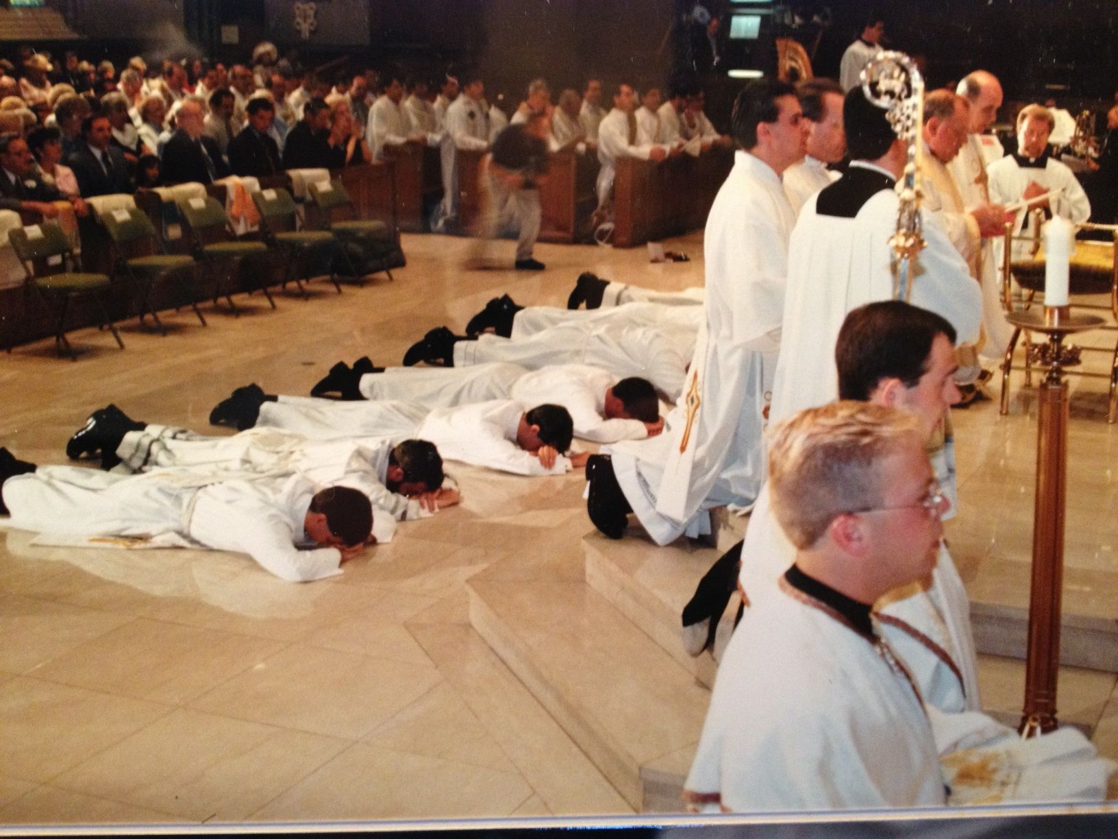 Teaching During The Sacrament Of Holy Orders The Men Lay Prostrate On The Floor This Is A Sign Of Service To The Sacrament Of Holy Orders Men Lie Sacrament