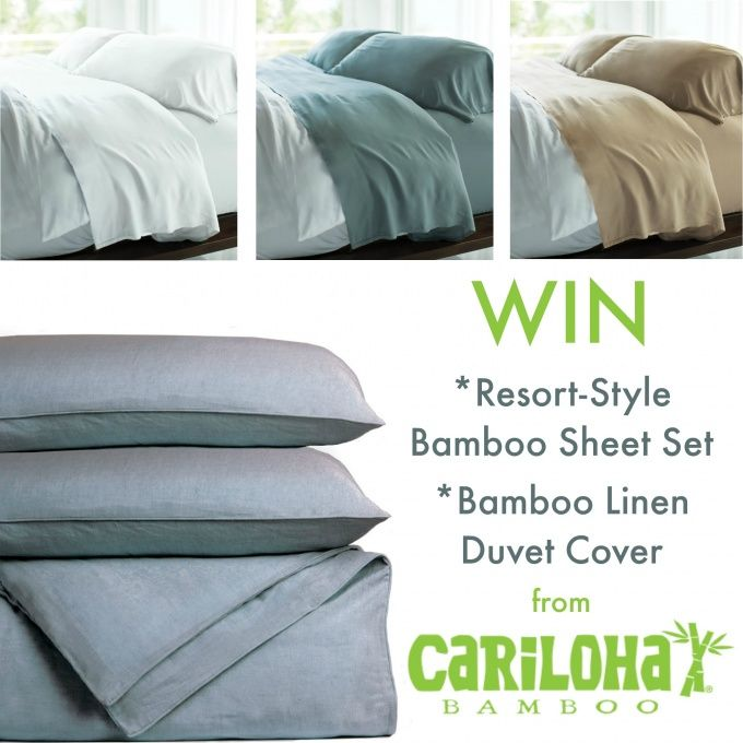 Win A Bamboo Sheet Set And Duvet Cover From Cariloha 478 Value