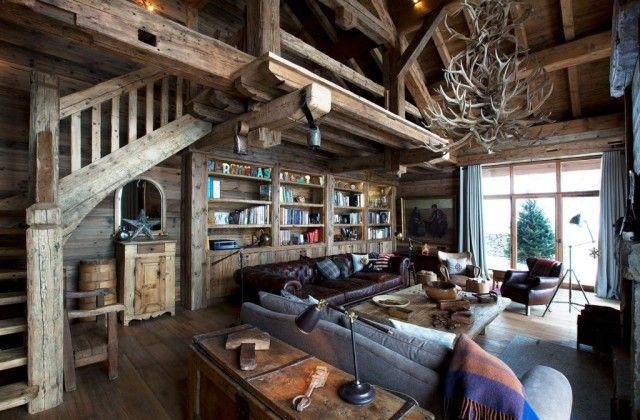 Casa rural de madera en la nieve caba as - Cabanas de madera en la nieve ...