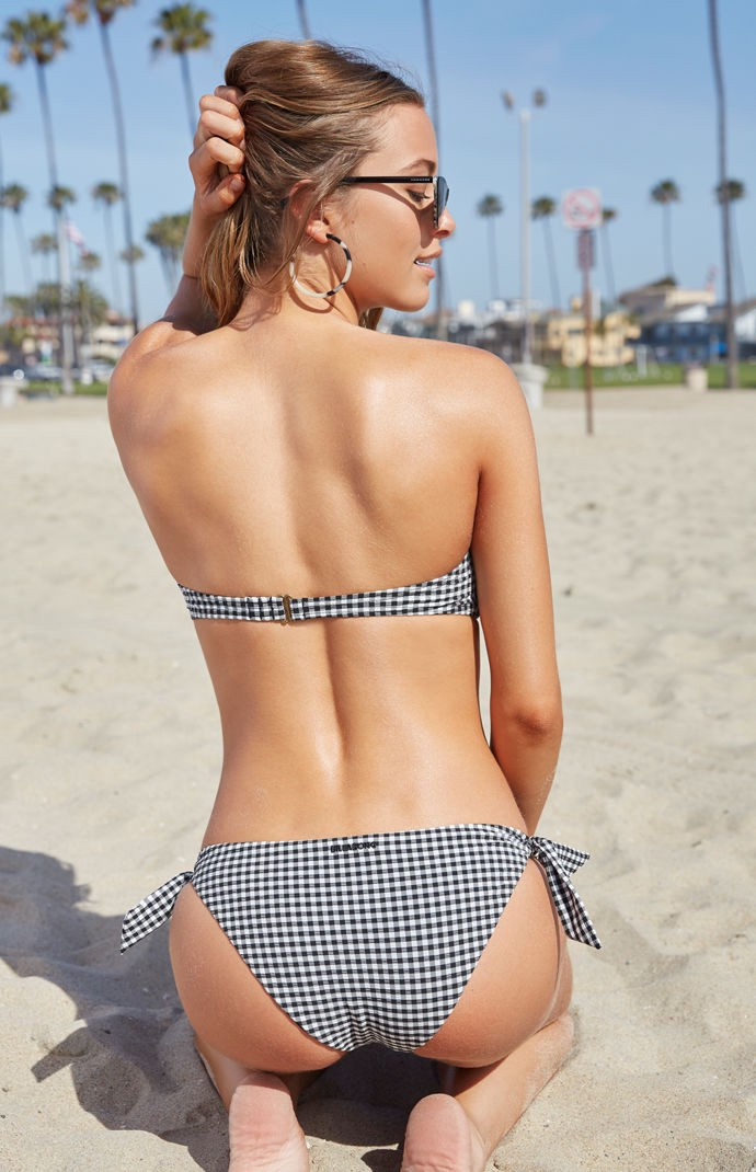 69ebfaeaee4 Billabong Surf Check Bandeau Bikini Top - Black/White Lrg | Products ...