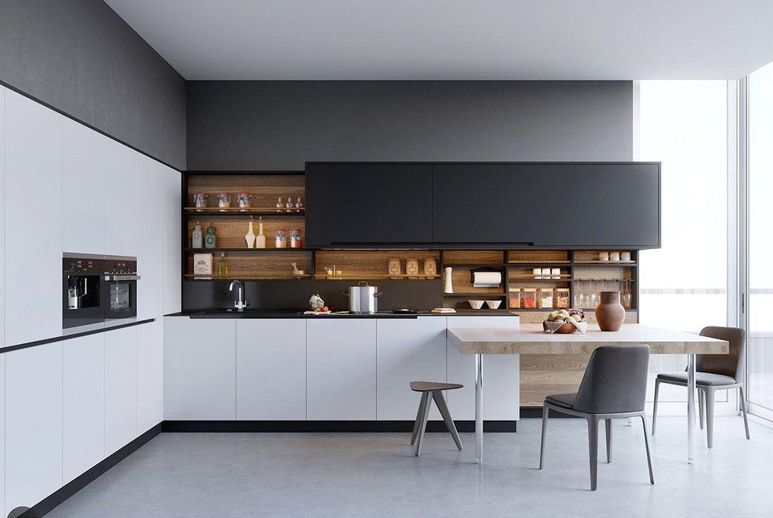 Schone Weisse Kuchen Design Ideen Avec Kuche Modern Schwarz Weiss Et