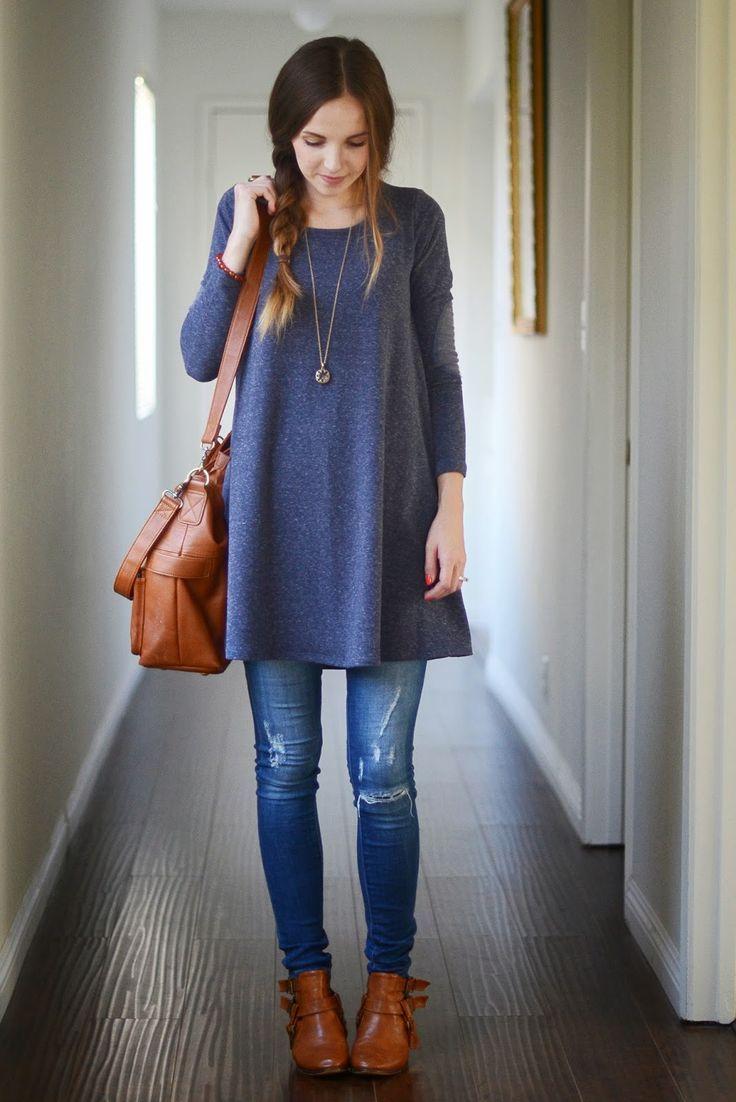 cd0c517f14ea Cómo usar suéter largo en otoño [FOTOS] | ActitudFEM | Outfits ...