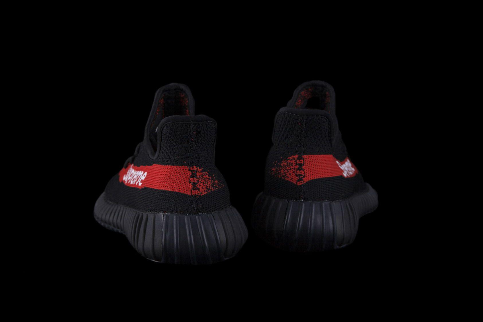 10b351c6b50e8 Adidas Yeezy Boost 350 V2 Black Supreme Real Boost 18