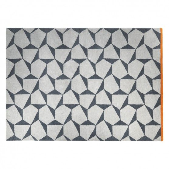 Telha Large Grey And Cream Wool Rug 170 X 240cm Buy Now At Habitat Uk Rugs Wool Rug Hand Tufted Rugs