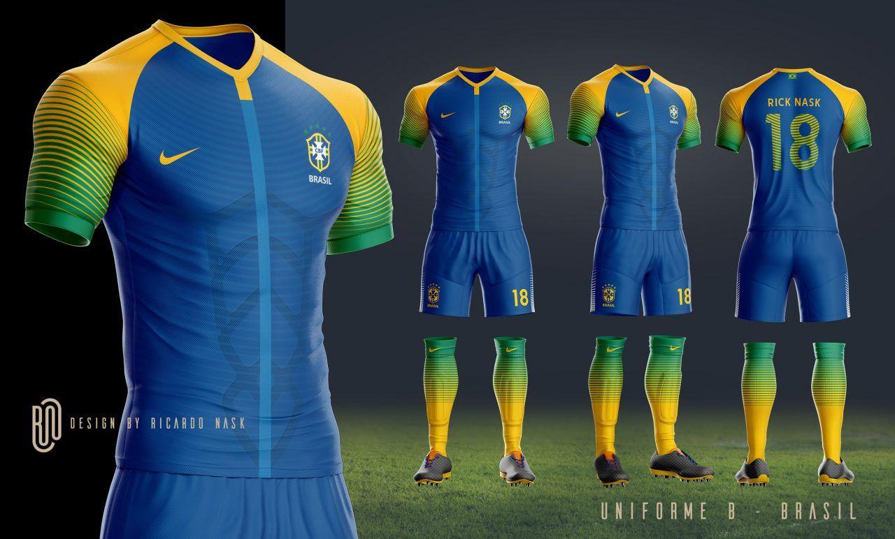 96cba7b1e6 As camisas da Seleção Brasileira deveriam ser mais ousadas  Nosso leitor  Ricardo Nask imaginou como