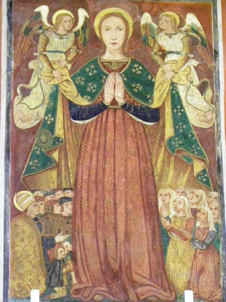 Madonna della Libera, Pratola Peligna , L'Aquila.   Живопись