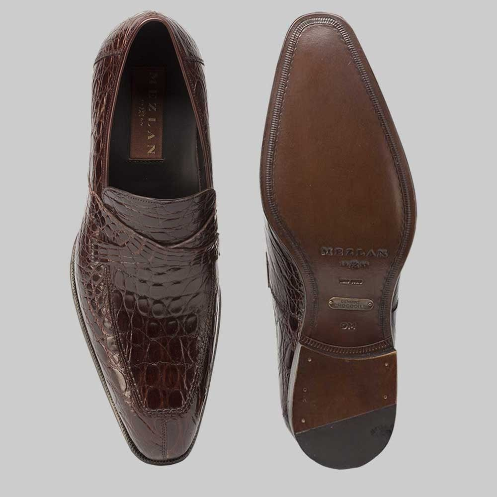 ca5d9bdfbdf Mezlan Mens Shoes Sierpes Brown Crocodile Loafer 14283-C (MZ2298 ...