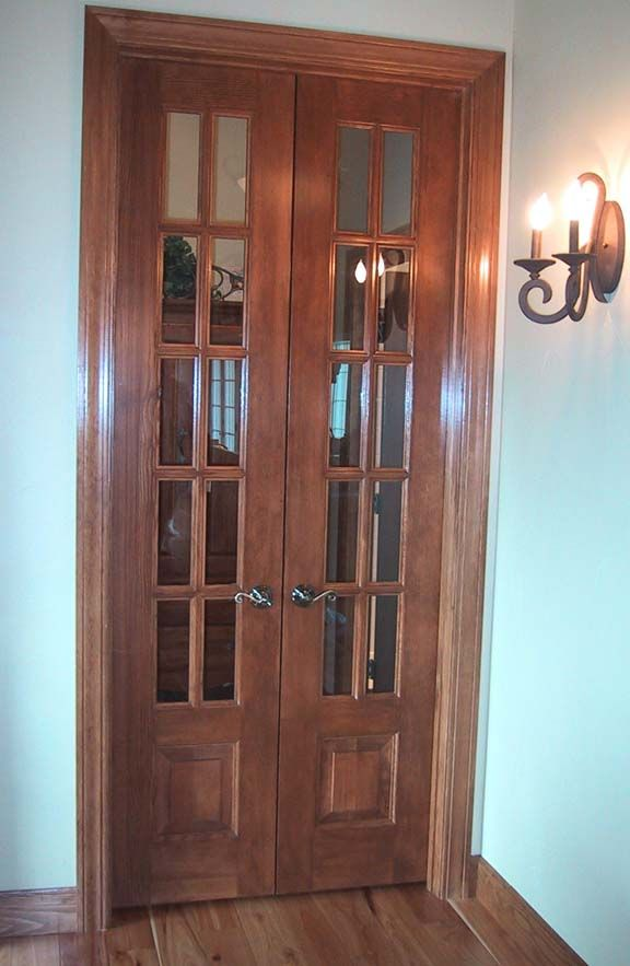 narrow french doors | Crested Butte Door Styles, raised panel wood ...