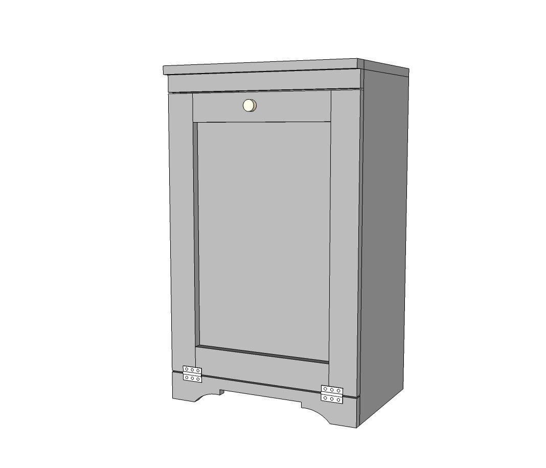 Wood Tilt Out Trash Or Recycling Cabinet Trash Can Cabinet Cabinet Plans Wooden Trash Can Holder