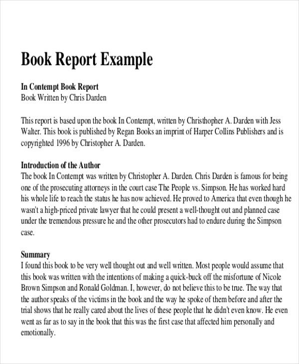 Sample Book Report Free Example Format Download Book Report Book Review Template Book Report Templates