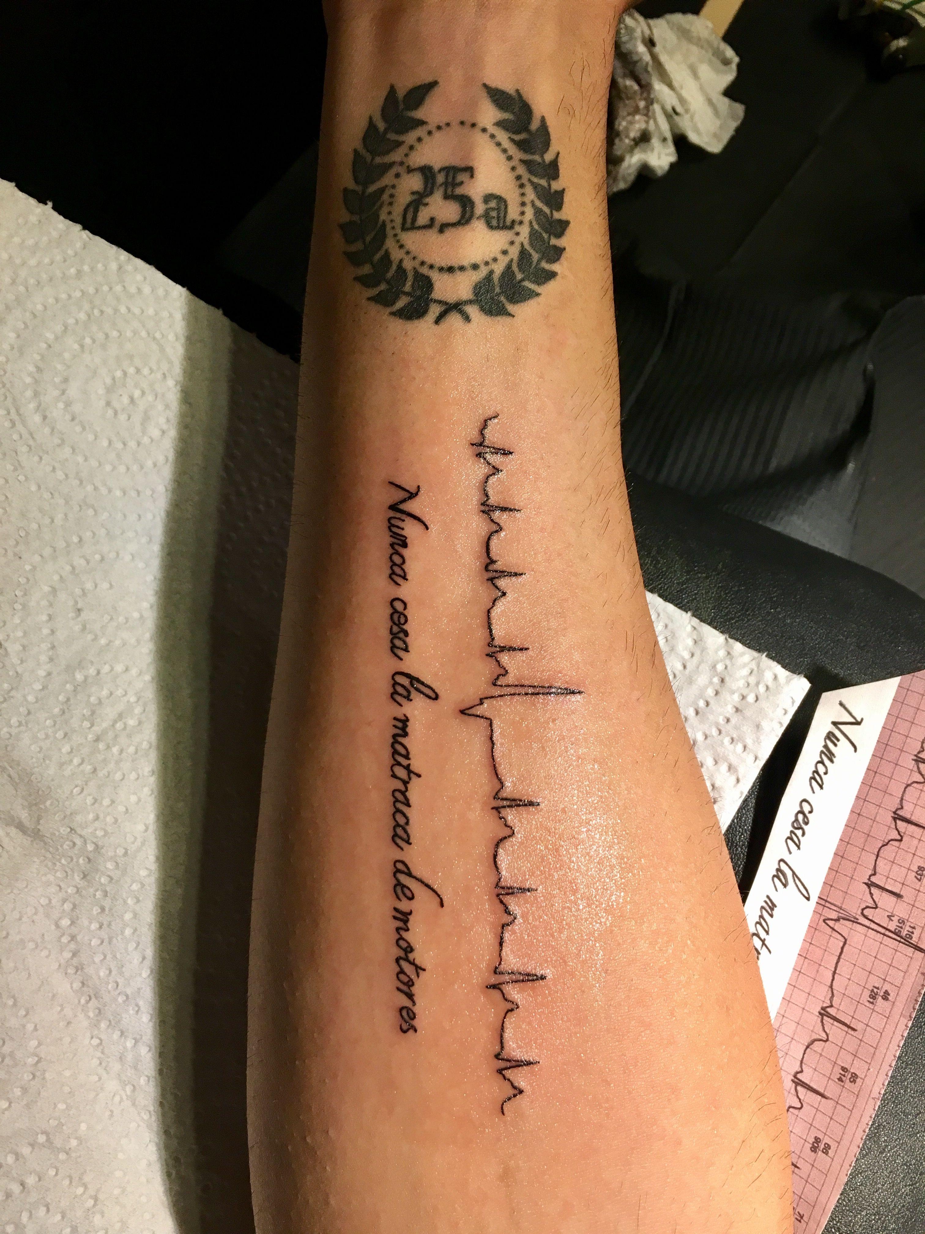 Tatuaje Antebrazo Línea De La Vida Electrocardiograma Arritmia