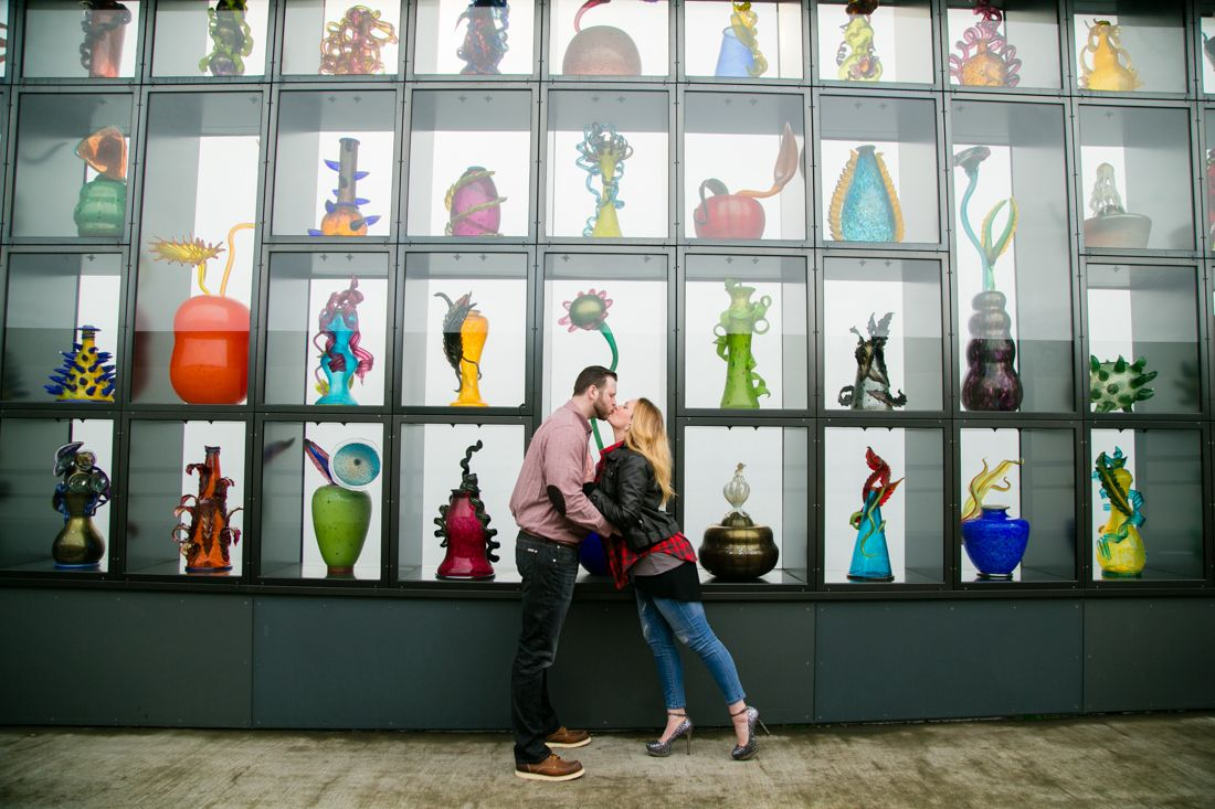 Tacoma Engagement Photography Session At The Museum Of Glass With Wedding Photographer Petersen Pictures