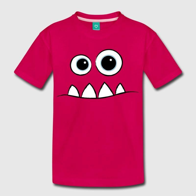 Monster Face Kids Premium T Shirt Monster Shirts Shirts Printed Shirts