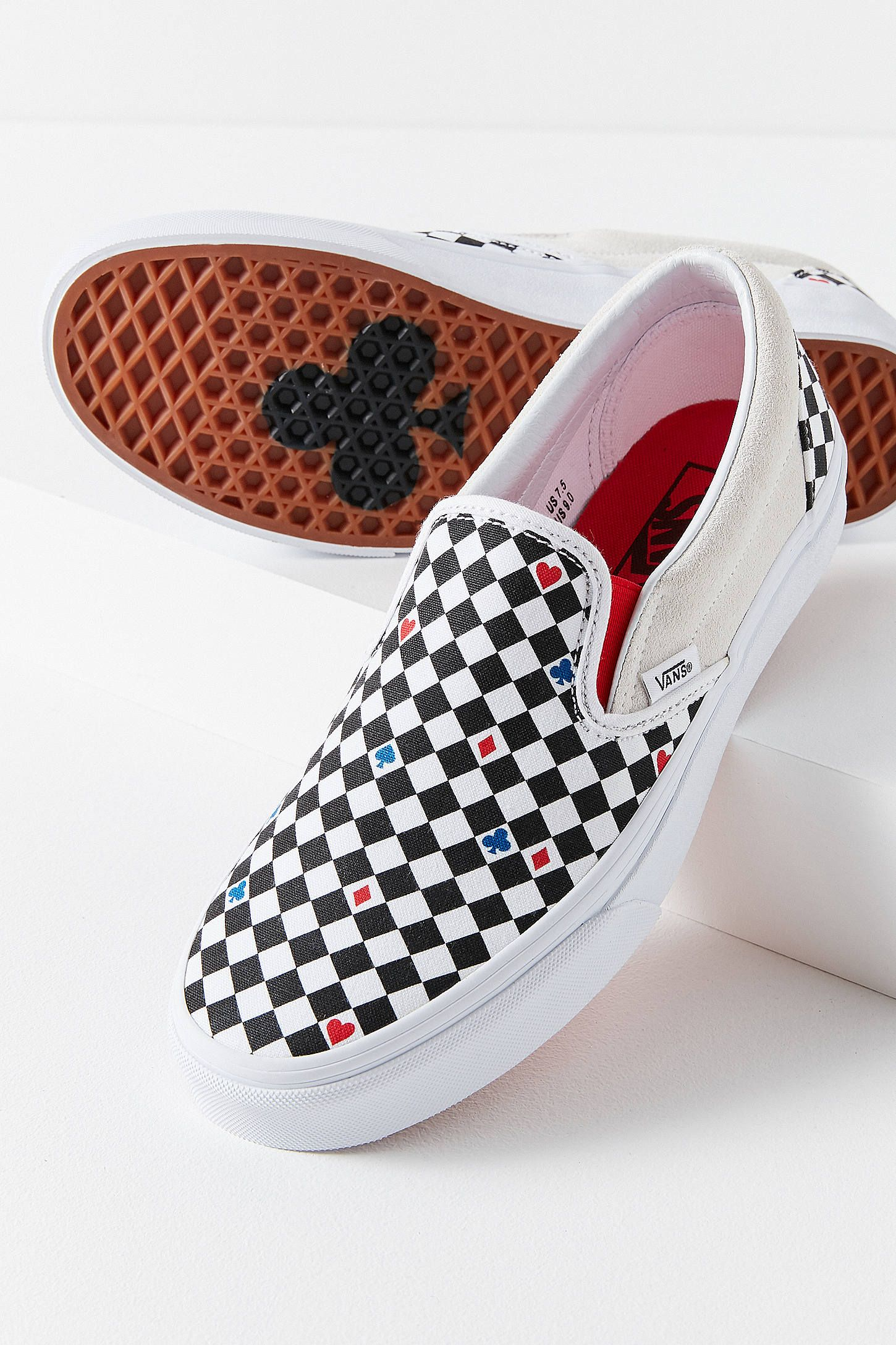 3a55bf70a453 Vans UO Exclusive Playing Card Classic Slip-On Sneaker