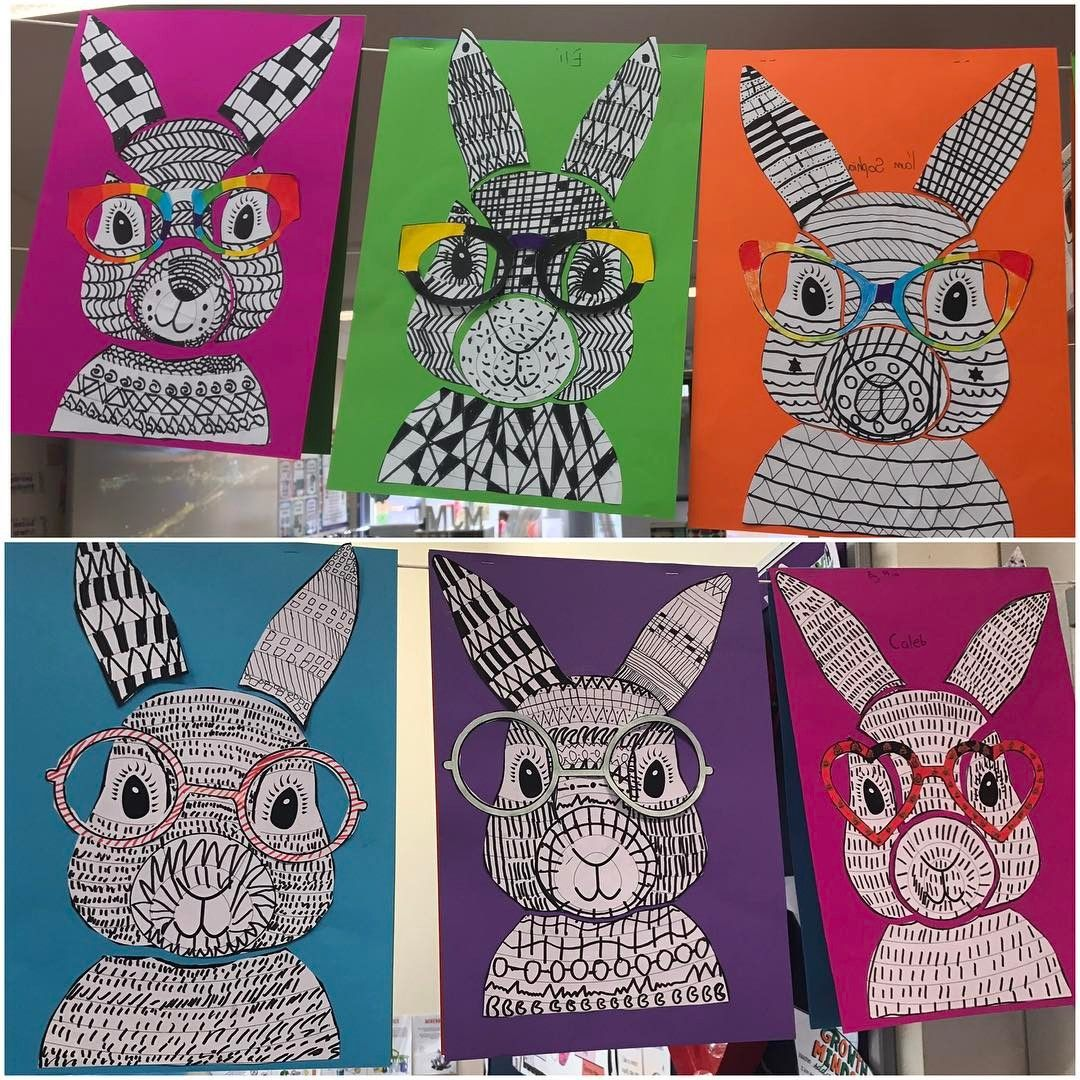 Funky Easter Bunny Craft Template Bunny Crafts Easter Craft