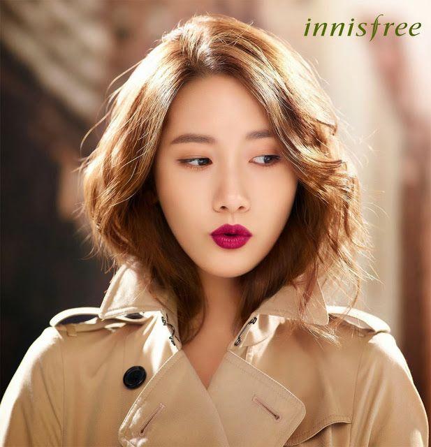 Yoona Snsd In Innisfree Color Glow Lipstick In 06 Maple Burgundy Pink ビューティー 美髪 ビューティープロダクト