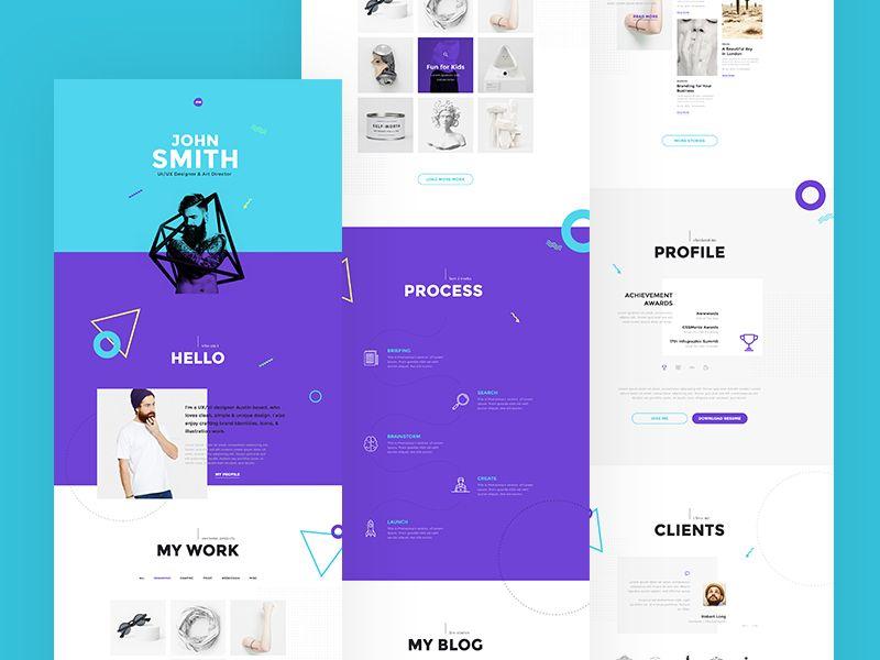 Me - Creative Portfolio \ Resume \/ CV PSD Template Creative - resume me