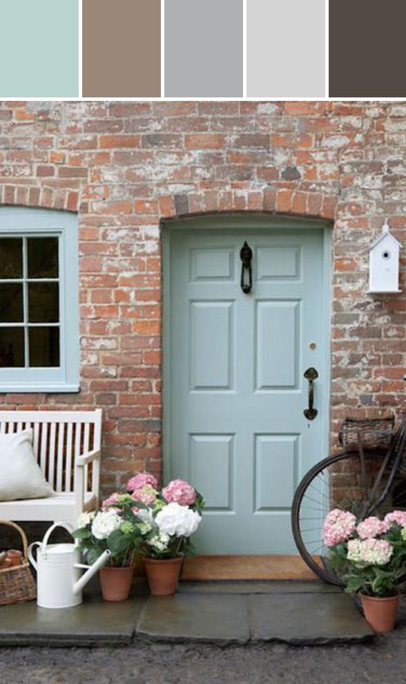 front door patio color | Black And White Bedroom Ideas | Cottage front doors ...