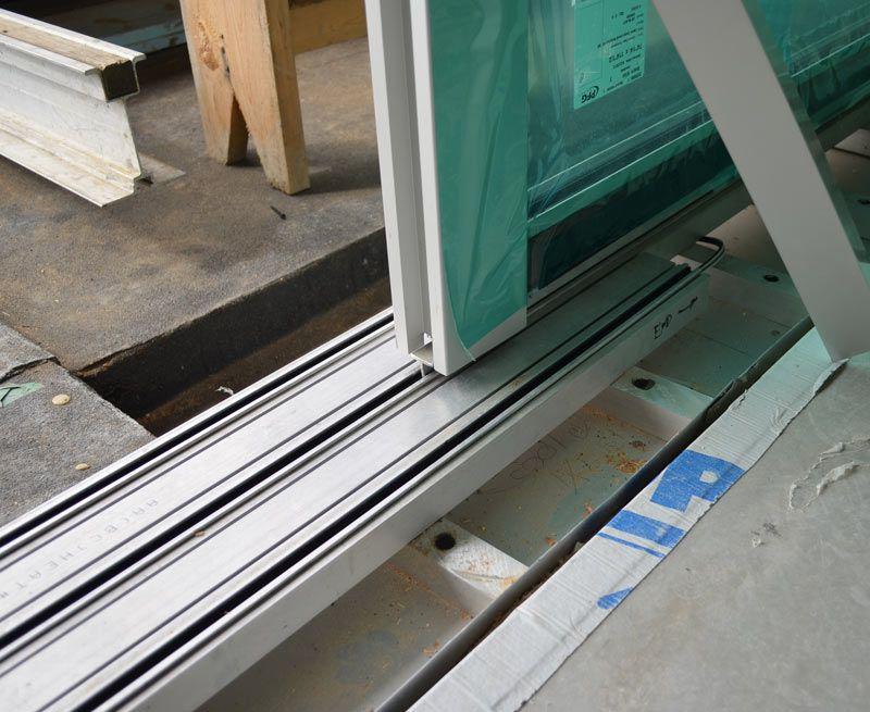 Top Hung Slider Door Bottom Track Detail Sill Detail Sliding Doors Van Home Slider Door