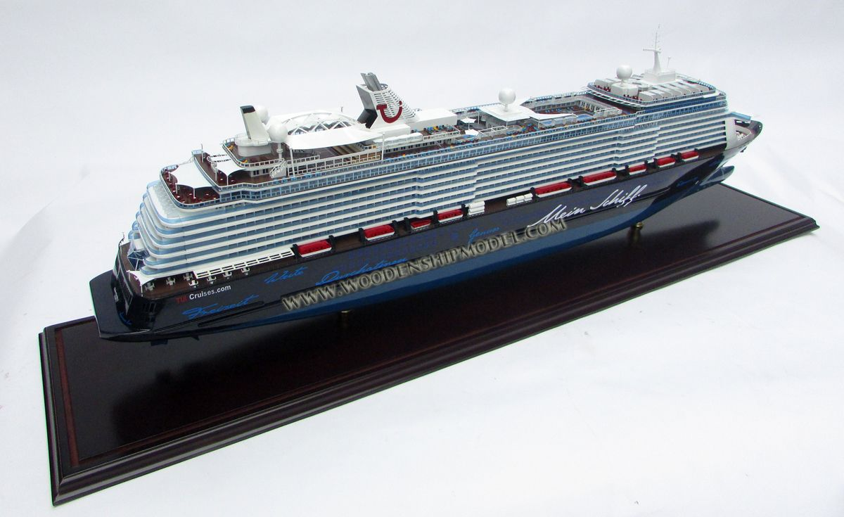 Mein Schiff 6 Ship Model Ready For Display Model Ships Wooden Ship Models Cruise Ship