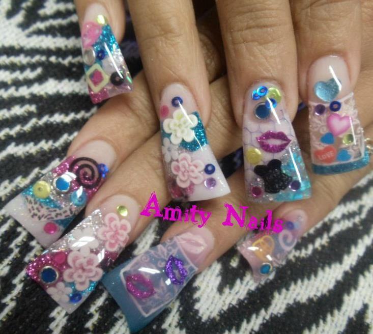 Pin By Felicia On Amitynails Com Nailsbyamity Fan Nails Duck Feet Acrylic Nails Duck Nails