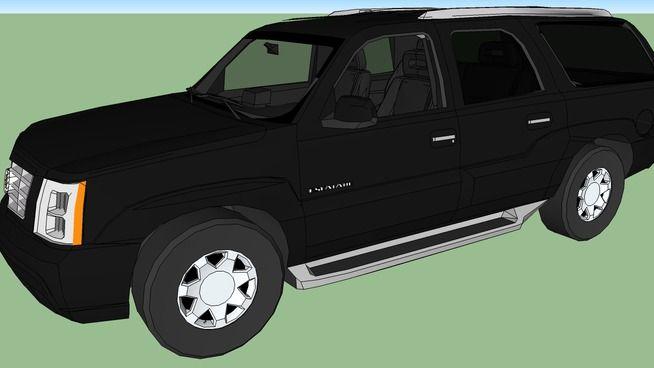 2003 Cadillac Escalade ESV Series II black (Tony Soprano) - 3D Warehouse