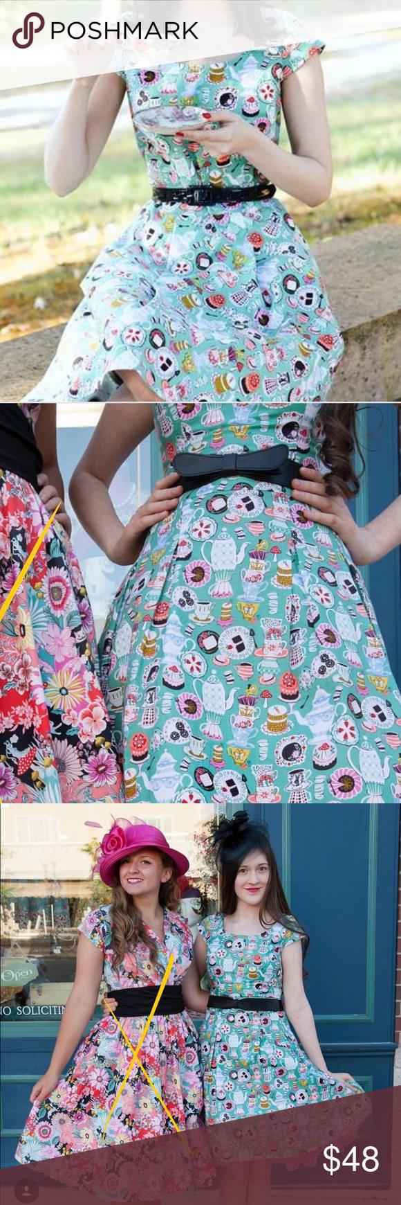Wonderland Tea Party Dress Retrolicious Folter Boutique | Tea ...