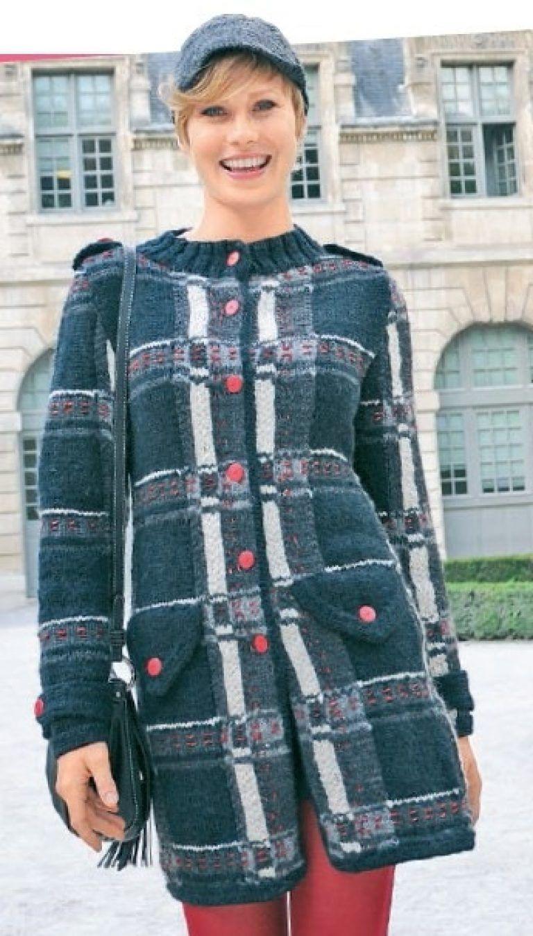 вязаное короткое пальто спицами для женщин вязание пальто