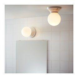Vitem lla decken wandleuchte porzellan keramik steinzeug glas steinzeug glas ikea - Ikea badezimmer lampe ...