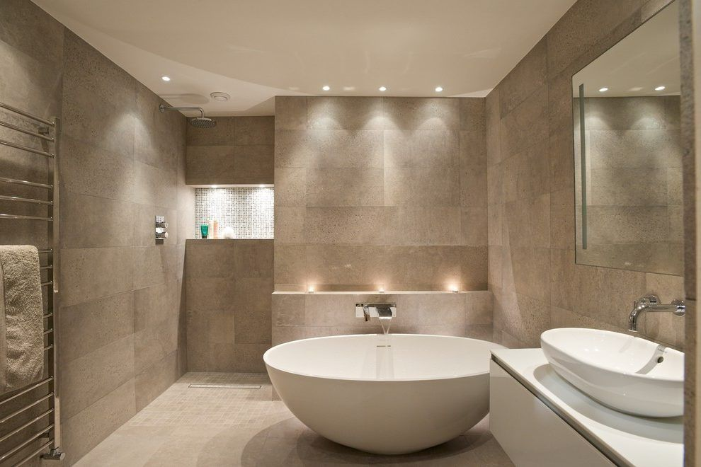 small bathroom lighting contemporary with wet room white sinks | For ...