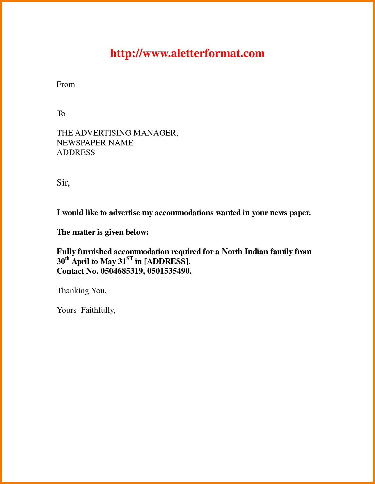 Application Letter For The Job Advertisement Appeal Letters  Home