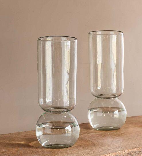Recycled Glass Forcing Bulb Vase Flower Bulb Vivaterra Good