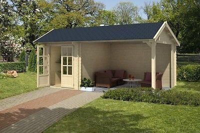 Gartenhaus Mit Unterstand gerätehaus 34mm kenzo 300 mit unterstand 10 2m 5 4x3m gartenhaus