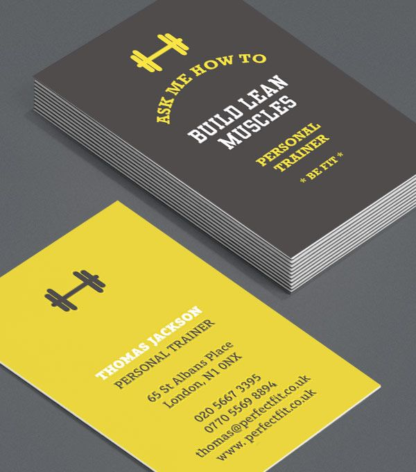 personal trainer business card design design pinterest