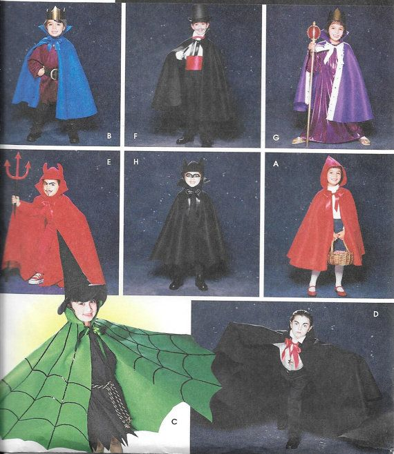 Simplicity 5927, Childs Cape, Robe and Headpieces Sewing Pattern ...