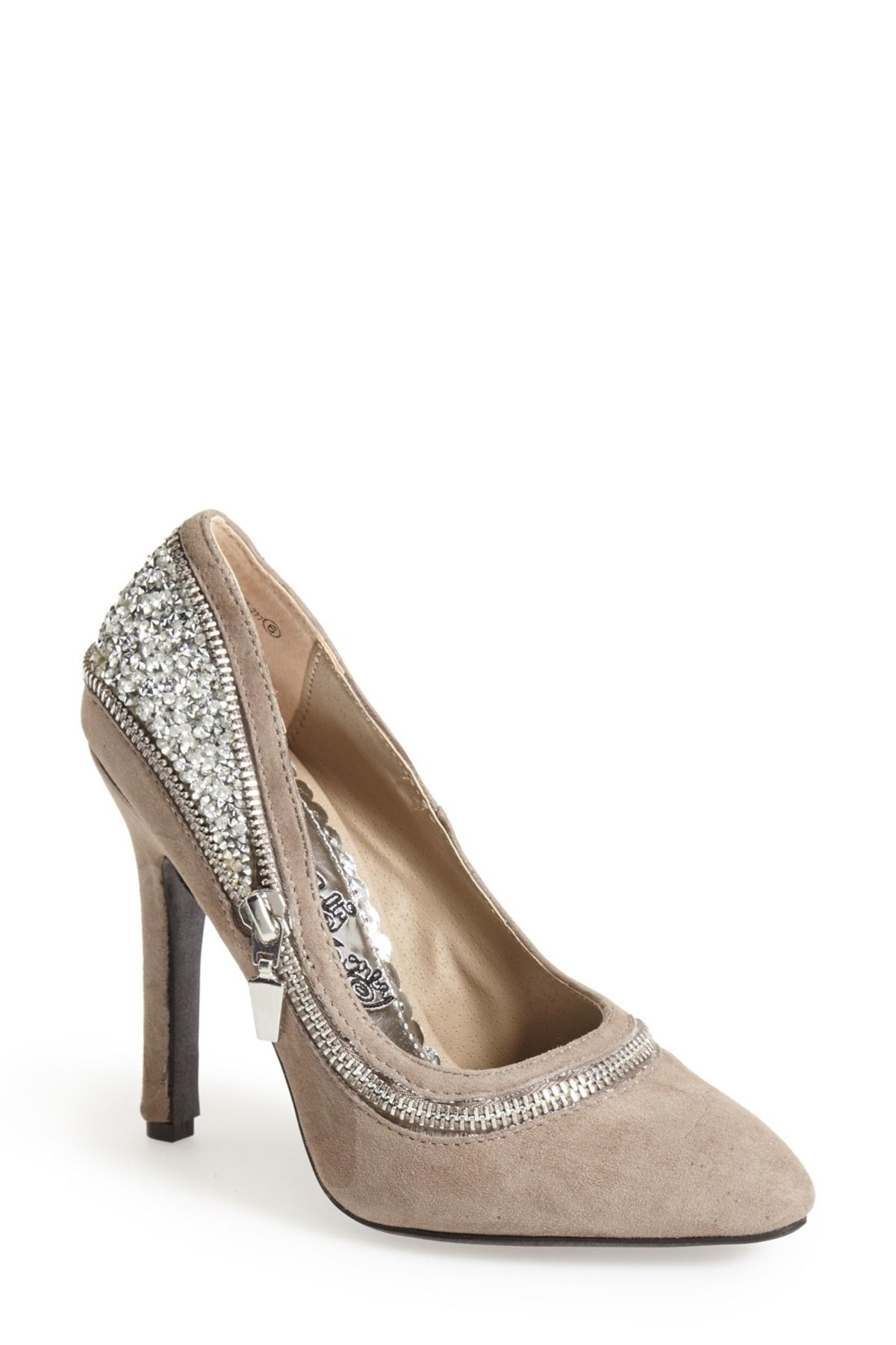 'All I Want Is You' Glitter Back Pump by NAUGHTY MONKEY on @HauteLook