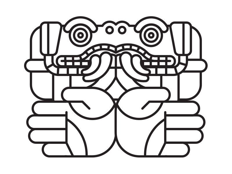 Coatlicue Coatlicue Simbolos Aztecas Y Dibujos Prehispanicos