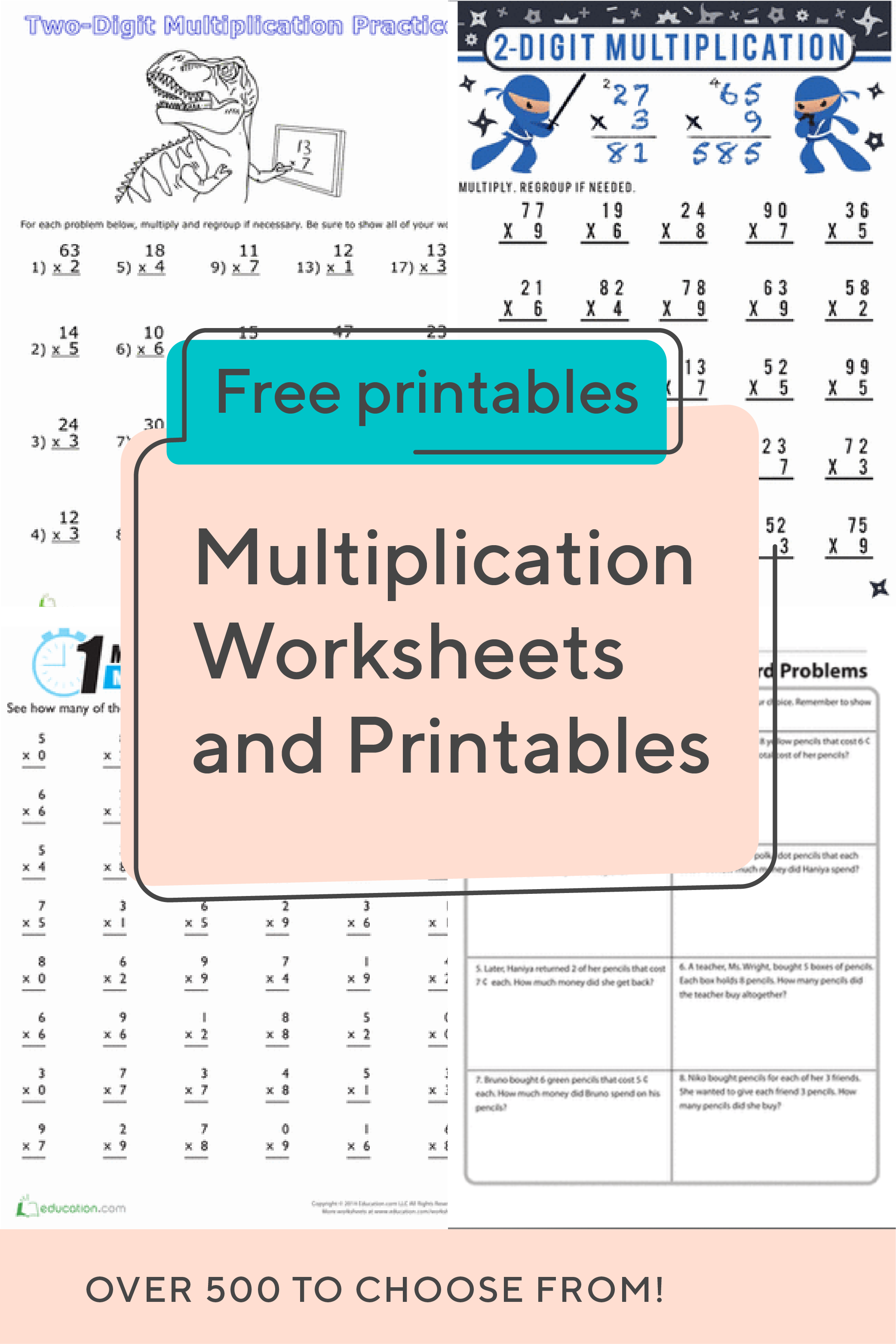 Multiplication Worksheets And Printables These Multiplication Worksheets Cover Everything F Multiplication Worksheets Kindergarten Worksheets Time Worksheets [ 3126 x 2084 Pixel ]