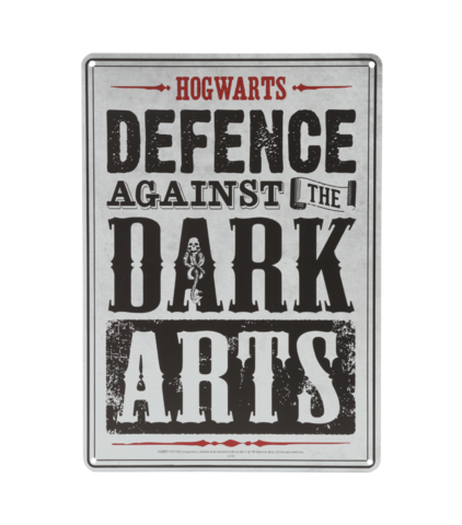 Defence Against The Dark Arts Wall Sign Dark Art Hogwarts Wall