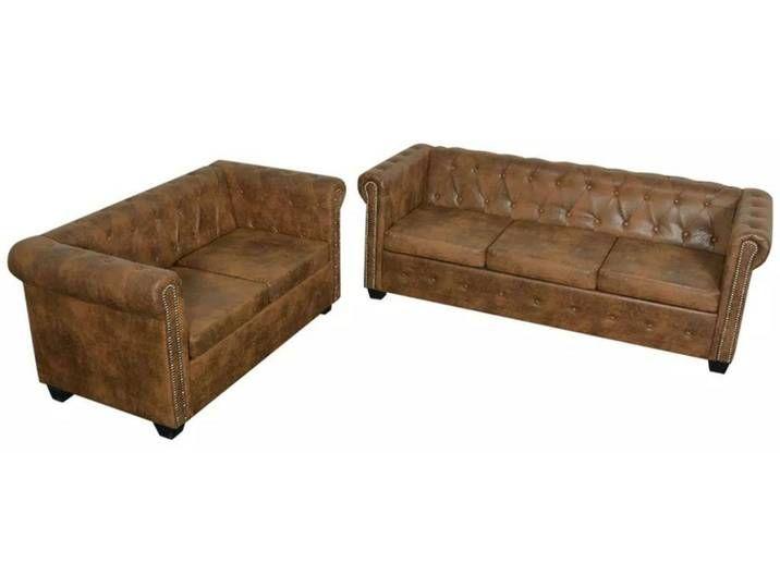Bishop Chesterfield Sofa Set 2 Sitzer Und 3 Sitzer Kunstleder