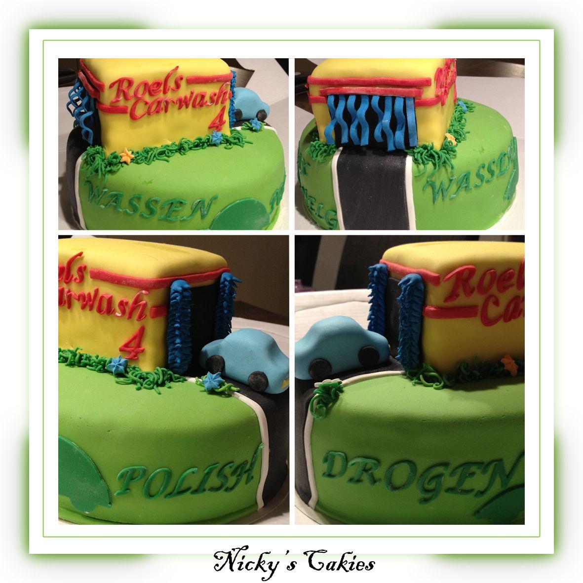 Carwash taart carwash taart cake with images cake