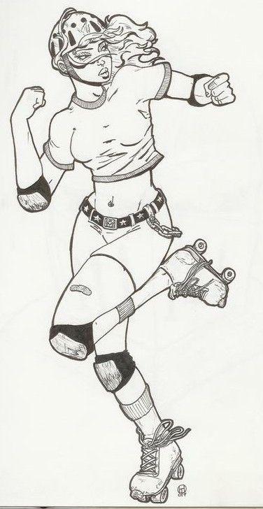 girl art derby Roller