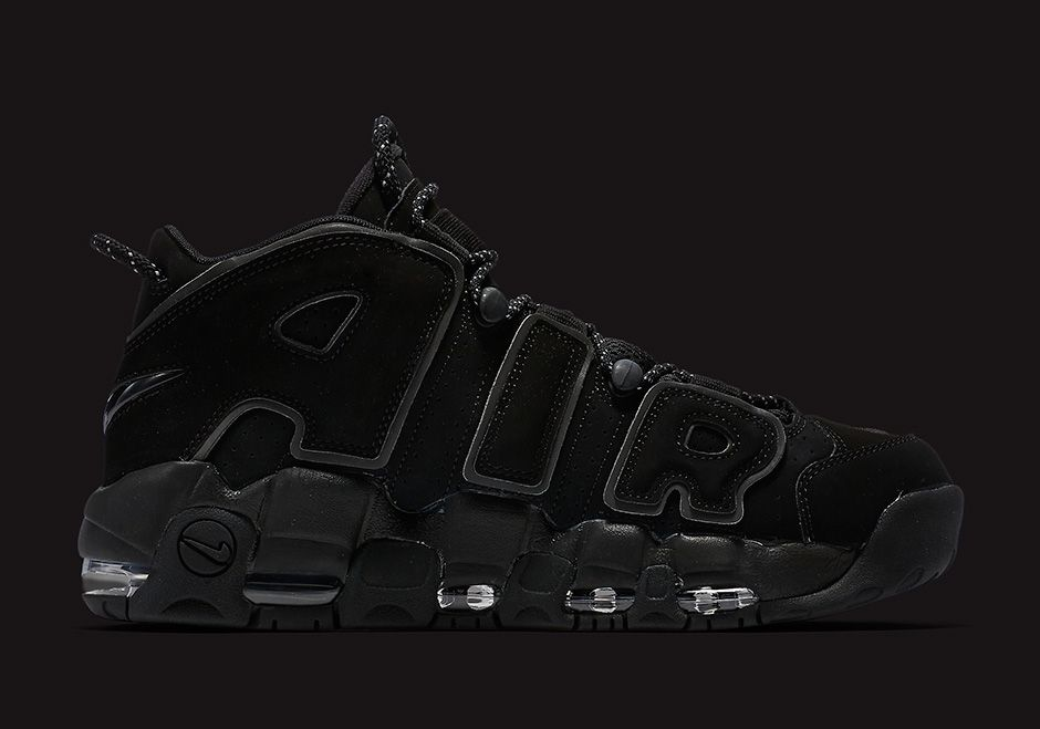 01b8738af8e5b8 Nike Air More Uptempo Triple Black Reflective 414962-004