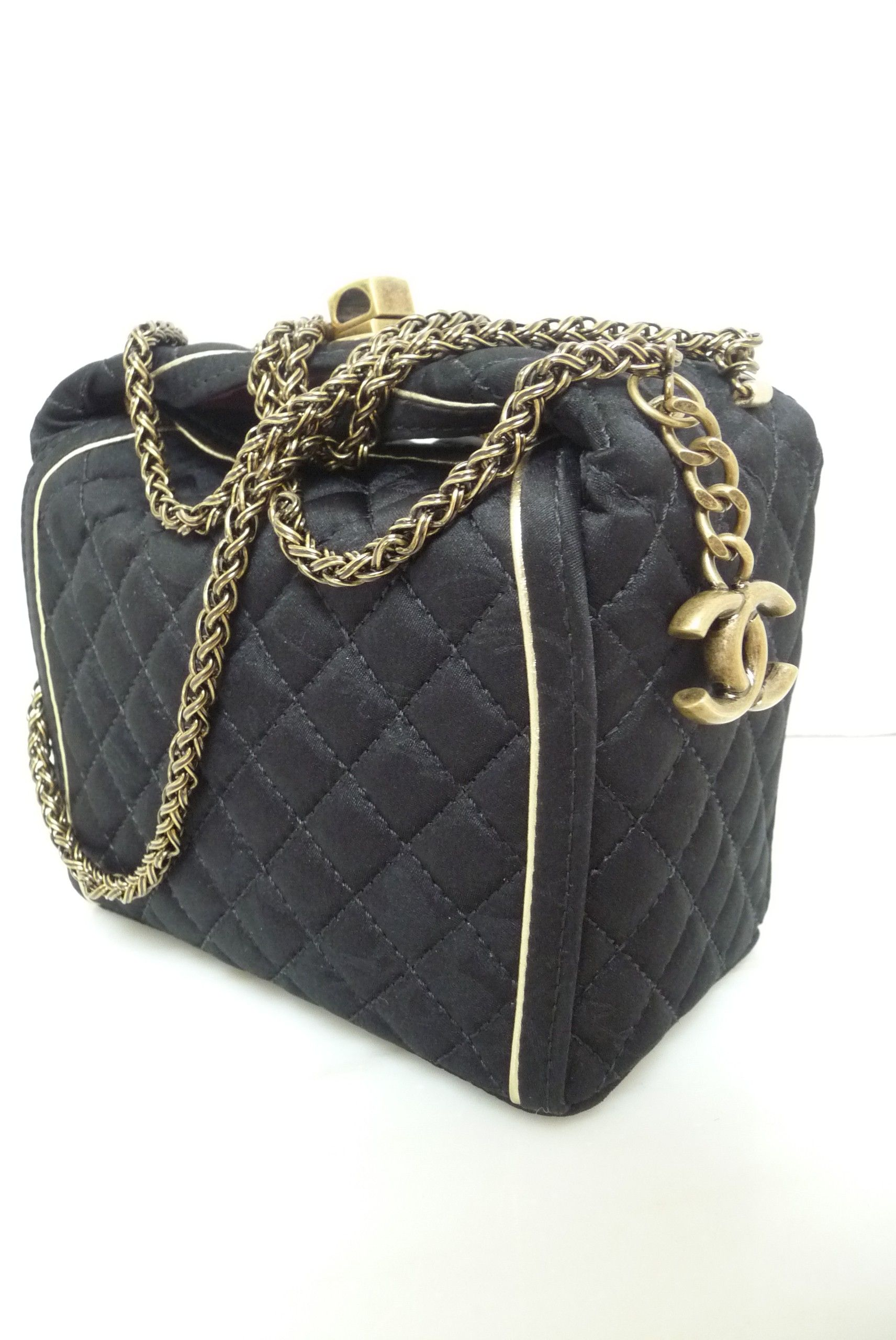 d234627ccd Chanel ::: Black Satin Evening Bag Limited Edition Runway | My Style ...