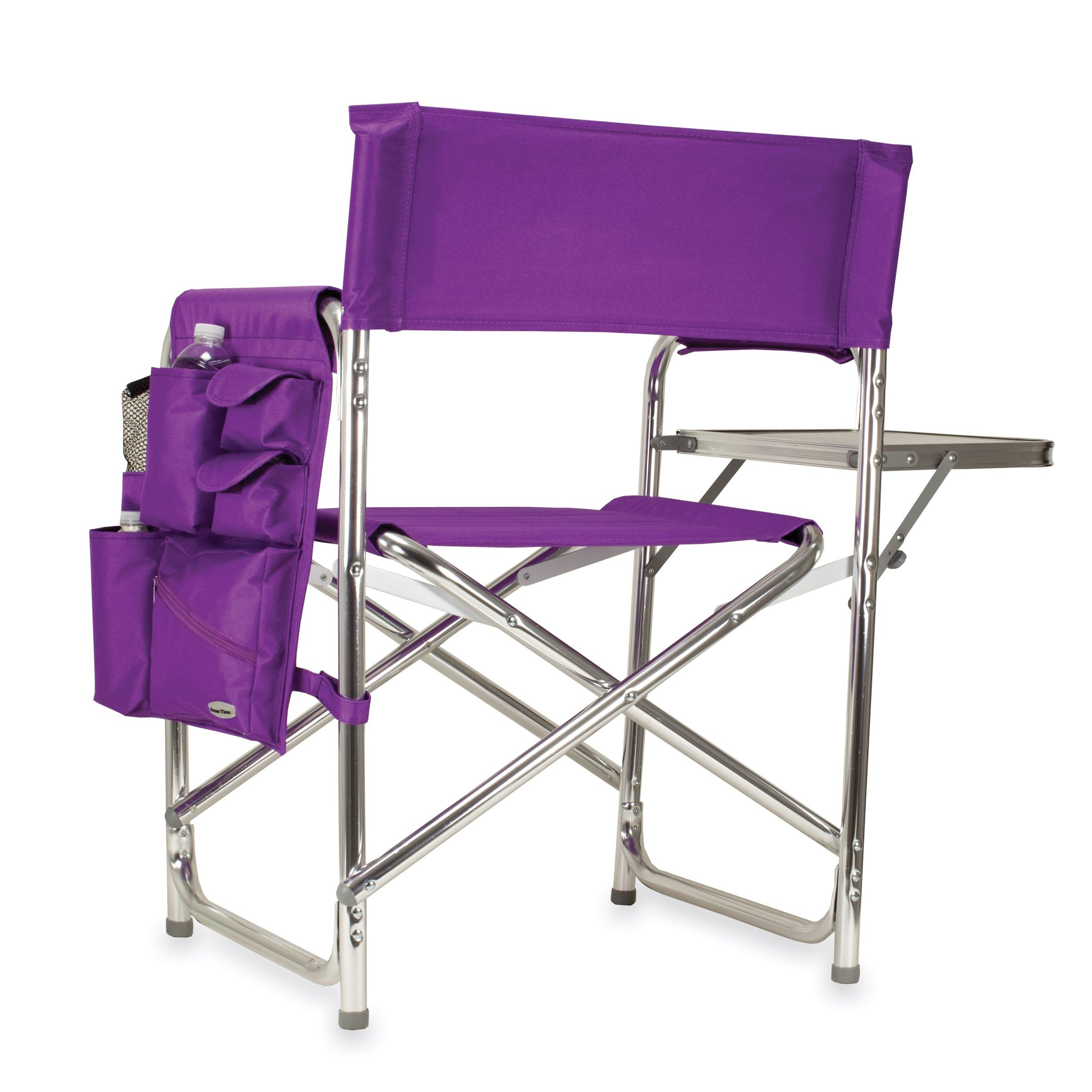 Captivating Picnic Time Purple Portable Folding Sports/Camping Chair