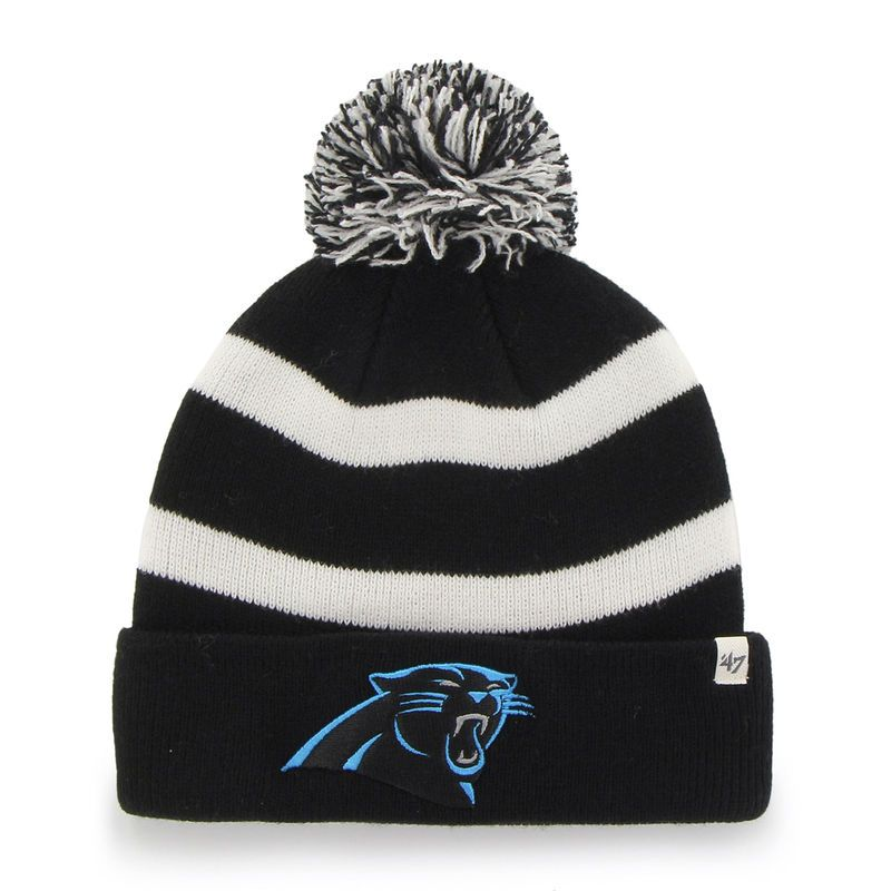 Carolina Panthers  47 Brand Breakaway Cuffed Beanie - Black ... 88a462961