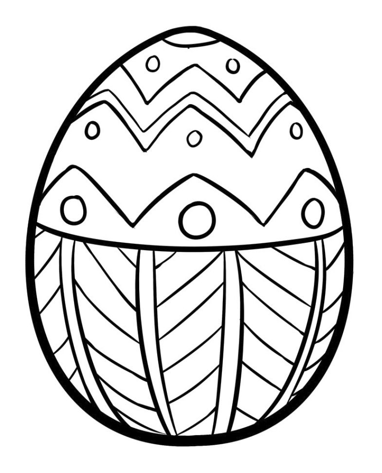 Simple Easter Egg Coloring Page Easter Egg Coloring Pages